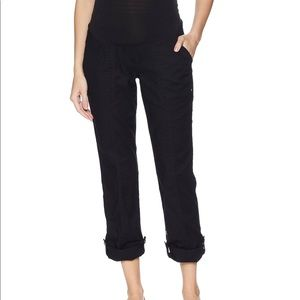 Over the belly maternity capris